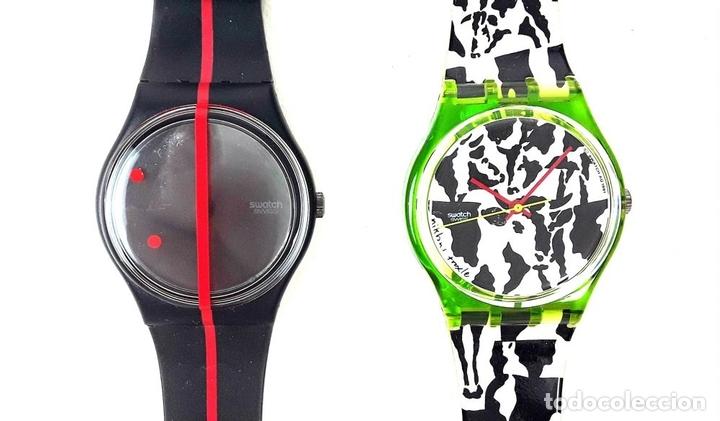 Relojes - Swatch: LOTE DE 5 RELOJES SWATCH. SUIZA. 1991-1992. - Foto 2 - 128453051