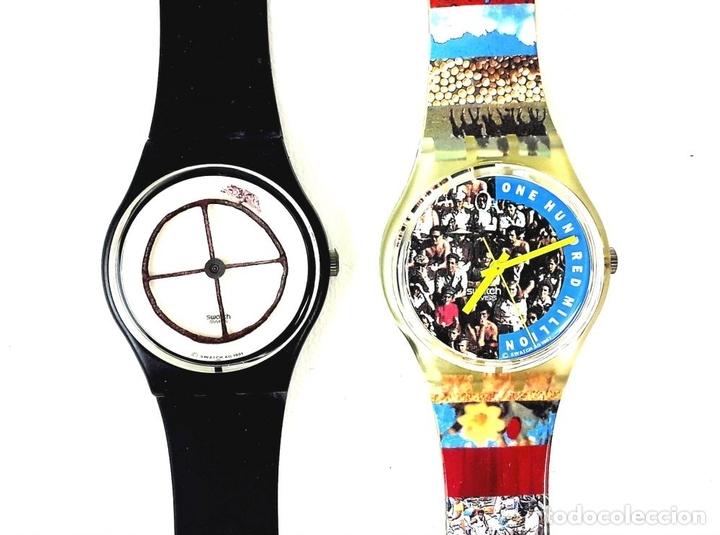 Relojes - Swatch: LOTE DE 5 RELOJES SWATCH. SUIZA. 1991-1992. - Foto 4 - 128453051