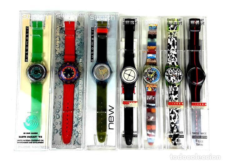 LOTE DE 7 RELOJES SWATCH. SUIZA. 1991-1992. (Relojes - Relojes Actuales - Swatch)