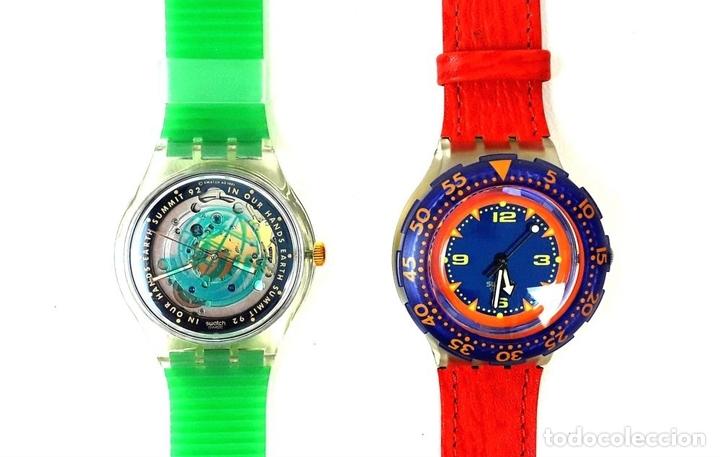 Relojes - Swatch: LOTE DE 7 RELOJES SWATCH. SUIZA. 1991-1992. - Foto 2 - 128516751