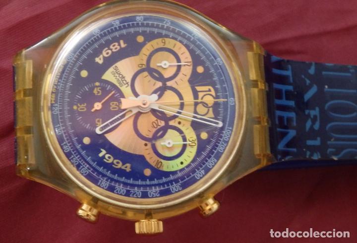 RELOJ CHRONO SWATCH SCZ101 ESPECIAL I.O.C 100 SARAJEVO (Relojes - Relojes Actuales - Swatch)