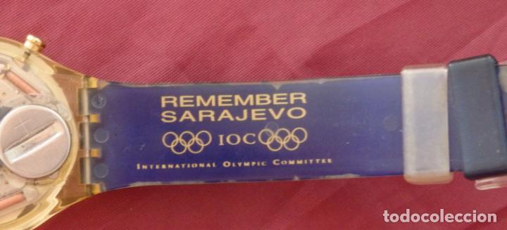 Relojes - Swatch: RELOJ CHRONO SWATCH SCZ101 ESPECIAL I.O.C 100 SARAJEVO - Foto 6 - 132914002
