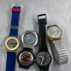 Relojes - Swatch: LOTE SWATCH PARA REPARAR O PIEZAS, NO SE HAN COMPROBADO.. Lote 135306914