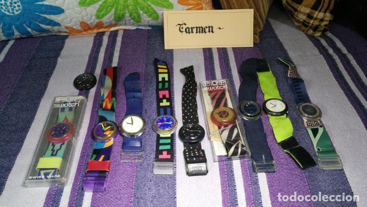 Relojes - Swatch: Lote de 10 relojes SWATCH están sin comprobar por tanto para reparar, repasar o piezas - Foto 2 - 140268814
