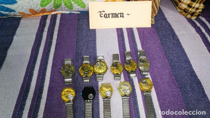 LOTE DE 11 RELOJES SWATCH DE MALLAS METÁLICAS SIN COMPROBAR POR TANTO PARA REPARAR, REPASAR O PIEZAS (Relojes - Relojes Actuales - Swatch)