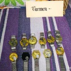 Relojes - Swatch: LOTE DE 11 RELOJES SWATCH DE MALLAS METÁLICAS SIN COMPROBAR POR TANTO PARA REPARAR, REPASAR O PIEZAS. Lote 140274530