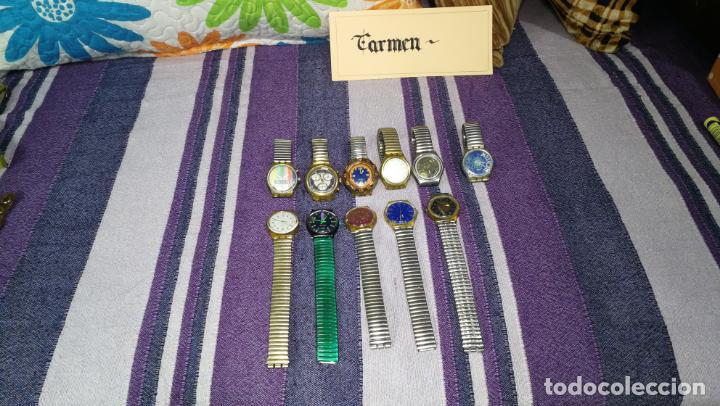Relojes - Swatch: Lote de 11 relojes SWATCH de mallas metálicas sin comprobar por tanto para reparar, repasar o piezas - Foto 2 - 140274530