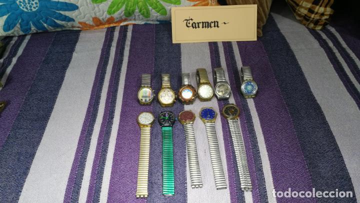 Relojes - Swatch: Lote de 11 relojes SWATCH de mallas metálicas sin comprobar por tanto para reparar, repasar o piezas - Foto 3 - 140274530