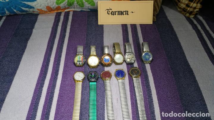 Relojes - Swatch: Lote de 11 relojes SWATCH de mallas metálicas sin comprobar por tanto para reparar, repasar o piezas - Foto 4 - 140274530