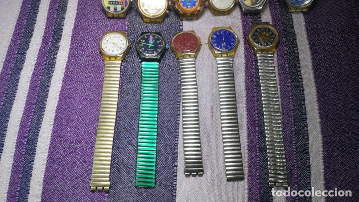 Relojes - Swatch: Lote de 11 relojes SWATCH de mallas metálicas sin comprobar por tanto para reparar, repasar o piezas - Foto 5 - 140274530