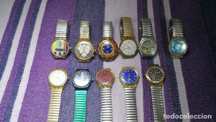 Relojes - Swatch: Lote de 11 relojes SWATCH de mallas metálicas sin comprobar por tanto para reparar, repasar o piezas - Foto 6 - 140274530