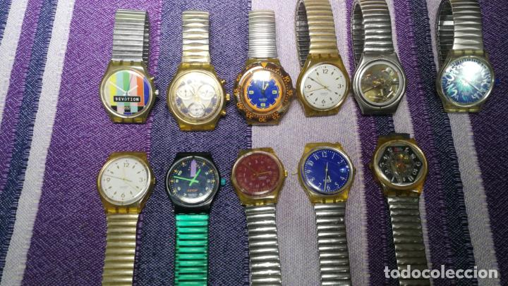 Relojes - Swatch: Lote de 11 relojes SWATCH de mallas metálicas sin comprobar por tanto para reparar, repasar o piezas - Foto 7 - 140274530