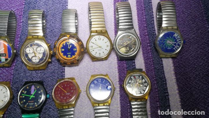 Relojes - Swatch: Lote de 11 relojes SWATCH de mallas metálicas sin comprobar por tanto para reparar, repasar o piezas - Foto 8 - 140274530