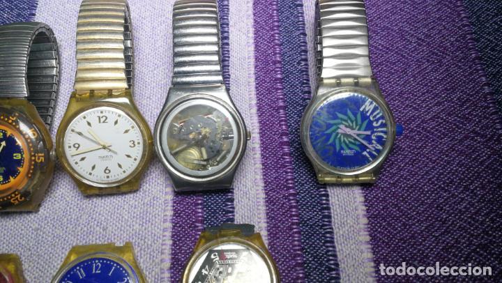Relojes - Swatch: Lote de 11 relojes SWATCH de mallas metálicas sin comprobar por tanto para reparar, repasar o piezas - Foto 9 - 140274530