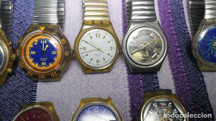 Relojes - Swatch: Lote de 11 relojes SWATCH de mallas metálicas sin comprobar por tanto para reparar, repasar o piezas - Foto 10 - 140274530