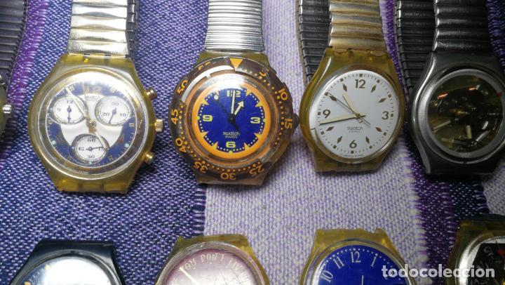 Relojes - Swatch: Lote de 11 relojes SWATCH de mallas metálicas sin comprobar por tanto para reparar, repasar o piezas - Foto 11 - 140274530