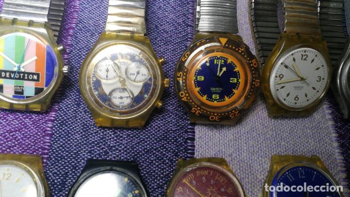 Relojes - Swatch: Lote de 11 relojes SWATCH de mallas metálicas sin comprobar por tanto para reparar, repasar o piezas - Foto 12 - 140274530
