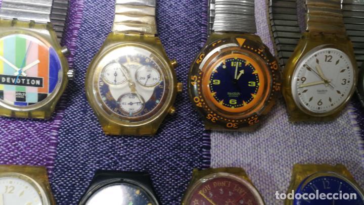 Relojes - Swatch: Lote de 11 relojes SWATCH de mallas metálicas sin comprobar por tanto para reparar, repasar o piezas - Foto 13 - 140274530