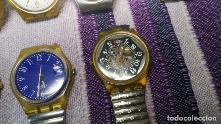 Relojes - Swatch: Lote de 11 relojes SWATCH de mallas metálicas sin comprobar por tanto para reparar, repasar o piezas - Foto 15 - 140274530