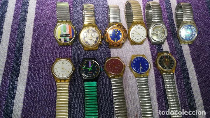 Relojes - Swatch: Lote de 11 relojes SWATCH de mallas metálicas sin comprobar por tanto para reparar, repasar o piezas - Foto 16 - 140274530