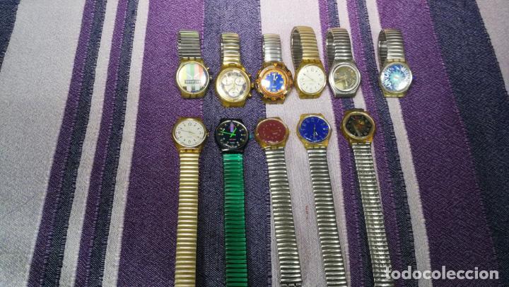 Relojes - Swatch: Lote de 11 relojes SWATCH de mallas metálicas sin comprobar por tanto para reparar, repasar o piezas - Foto 17 - 140274530