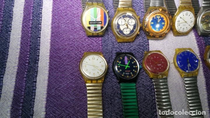 Relojes - Swatch: Lote de 11 relojes SWATCH de mallas metálicas sin comprobar por tanto para reparar, repasar o piezas - Foto 18 - 140274530