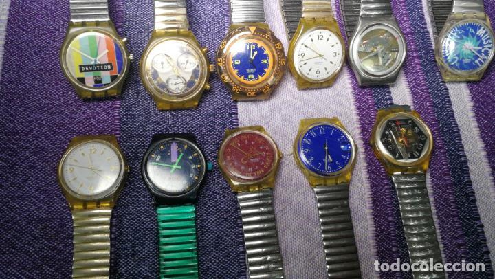 Relojes - Swatch: Lote de 11 relojes SWATCH de mallas metálicas sin comprobar por tanto para reparar, repasar o piezas - Foto 19 - 140274530