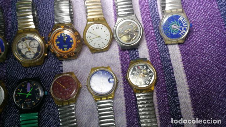 Relojes - Swatch: Lote de 11 relojes SWATCH de mallas metálicas sin comprobar por tanto para reparar, repasar o piezas - Foto 20 - 140274530