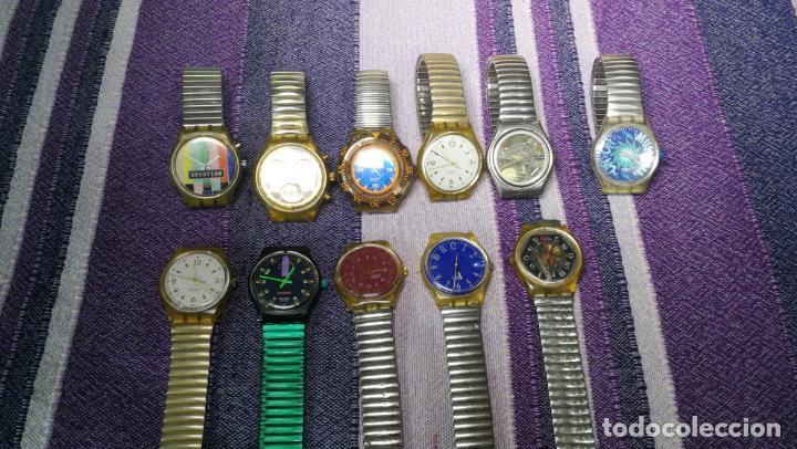Relojes - Swatch: Lote de 11 relojes SWATCH de mallas metálicas sin comprobar por tanto para reparar, repasar o piezas - Foto 21 - 140274530