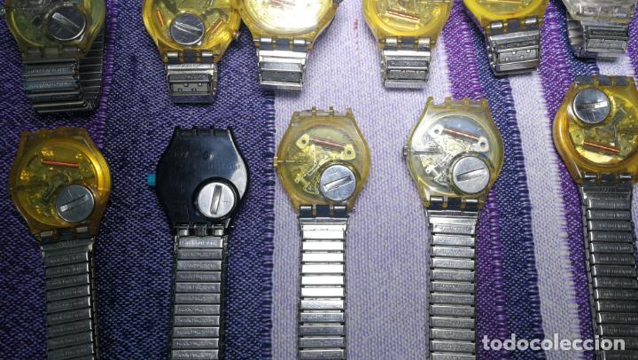 Relojes - Swatch: Lote de 11 relojes SWATCH de mallas metálicas sin comprobar por tanto para reparar, repasar o piezas - Foto 23 - 140274530