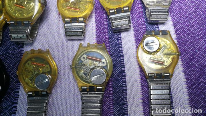 Relojes - Swatch: Lote de 11 relojes SWATCH de mallas metálicas sin comprobar por tanto para reparar, repasar o piezas - Foto 24 - 140274530