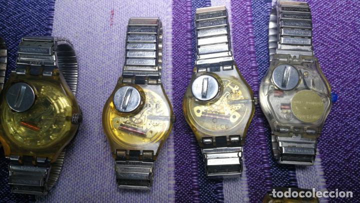 Relojes - Swatch: Lote de 11 relojes SWATCH de mallas metálicas sin comprobar por tanto para reparar, repasar o piezas - Foto 25 - 140274530