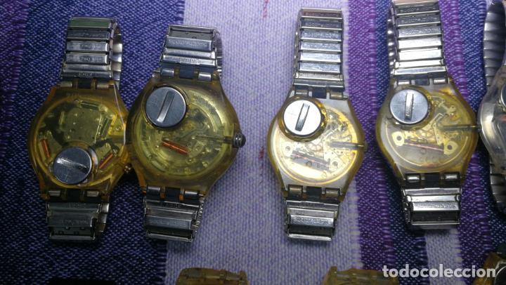 Relojes - Swatch: Lote de 11 relojes SWATCH de mallas metálicas sin comprobar por tanto para reparar, repasar o piezas - Foto 26 - 140274530