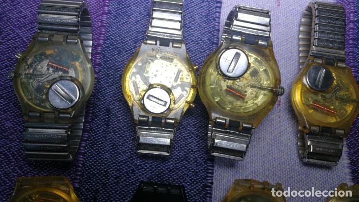 Relojes - Swatch: Lote de 11 relojes SWATCH de mallas metálicas sin comprobar por tanto para reparar, repasar o piezas - Foto 27 - 140274530
