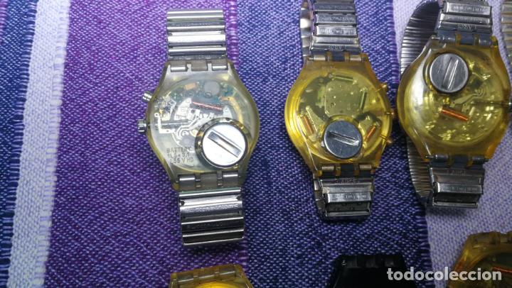Relojes - Swatch: Lote de 11 relojes SWATCH de mallas metálicas sin comprobar por tanto para reparar, repasar o piezas - Foto 28 - 140274530