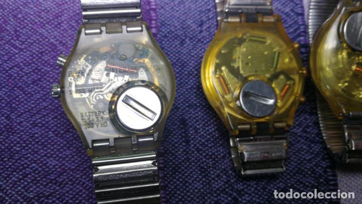 Relojes - Swatch: Lote de 11 relojes SWATCH de mallas metálicas sin comprobar por tanto para reparar, repasar o piezas - Foto 29 - 140274530