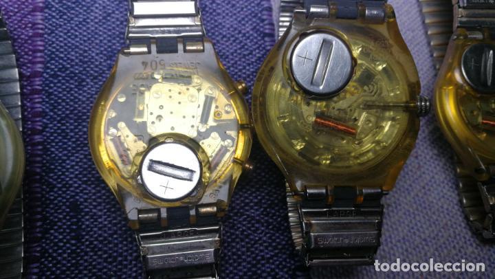 Relojes - Swatch: Lote de 11 relojes SWATCH de mallas metálicas sin comprobar por tanto para reparar, repasar o piezas - Foto 30 - 140274530