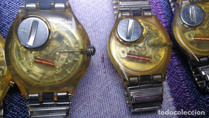 Relojes - Swatch: Lote de 11 relojes SWATCH de mallas metálicas sin comprobar por tanto para reparar, repasar o piezas - Foto 31 - 140274530