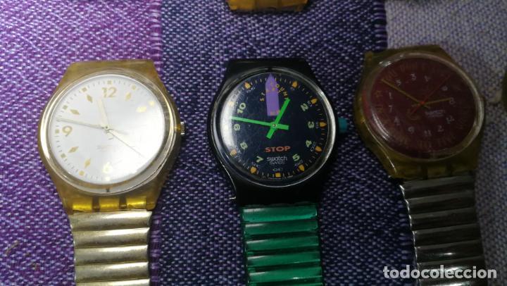 Relojes - Swatch: Lote de 11 relojes SWATCH de mallas metálicas sin comprobar por tanto para reparar, repasar o piezas - Foto 34 - 140274530