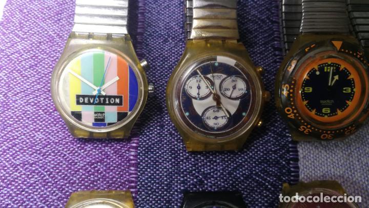 Relojes - Swatch: Lote de 11 relojes SWATCH de mallas metálicas sin comprobar por tanto para reparar, repasar o piezas - Foto 37 - 140274530