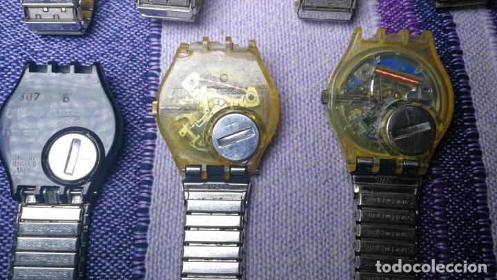 Relojes - Swatch: Lote de 11 relojes SWATCH de mallas metálicas sin comprobar por tanto para reparar, repasar o piezas - Foto 40 - 140274530