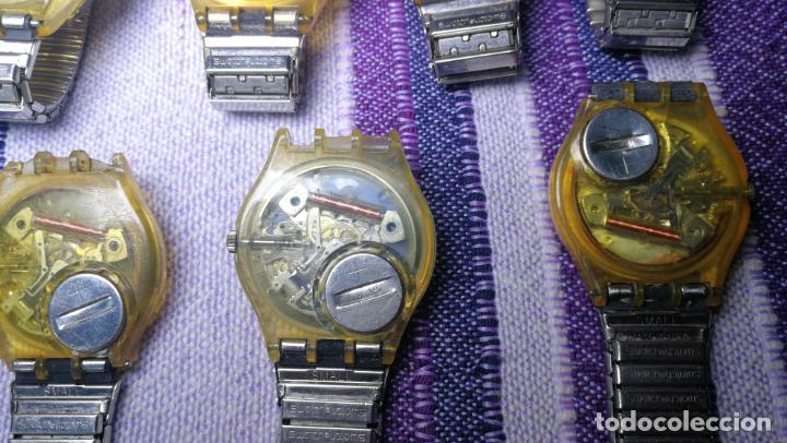 Relojes - Swatch: Lote de 11 relojes SWATCH de mallas metálicas sin comprobar por tanto para reparar, repasar o piezas - Foto 41 - 140274530