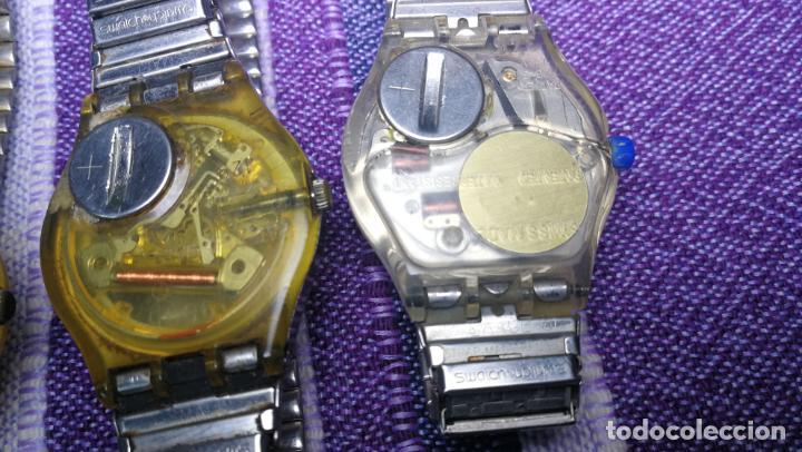 Relojes - Swatch: Lote de 11 relojes SWATCH de mallas metálicas sin comprobar por tanto para reparar, repasar o piezas - Foto 42 - 140274530
