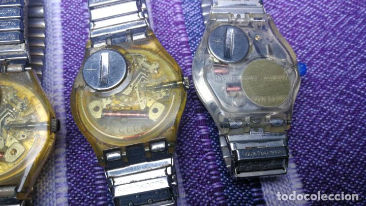Relojes - Swatch: Lote de 11 relojes SWATCH de mallas metálicas sin comprobar por tanto para reparar, repasar o piezas - Foto 43 - 140274530