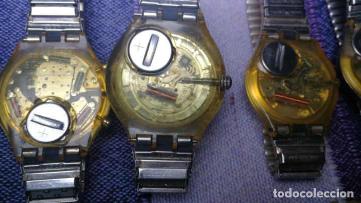 Relojes - Swatch: Lote de 11 relojes SWATCH de mallas metálicas sin comprobar por tanto para reparar, repasar o piezas - Foto 46 - 140274530