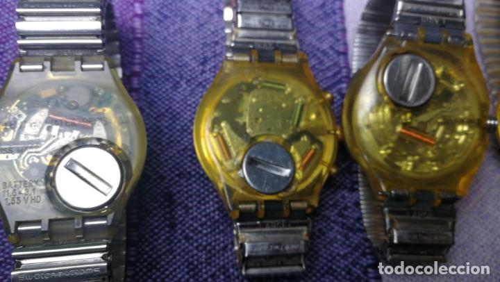 Relojes - Swatch: Lote de 11 relojes SWATCH de mallas metálicas sin comprobar por tanto para reparar, repasar o piezas - Foto 47 - 140274530