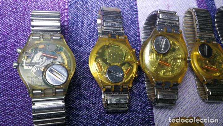 Relojes - Swatch: Lote de 11 relojes SWATCH de mallas metálicas sin comprobar por tanto para reparar, repasar o piezas - Foto 48 - 140274530