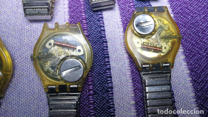 Relojes - Swatch: Lote de 11 relojes SWATCH de mallas metálicas sin comprobar por tanto para reparar, repasar o piezas - Foto 52 - 140274530