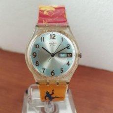 Relojes - Swatch: RELOJ DE PULSERA SWATCH MAQUINA VISTA DE CUARZO FUNCIONANDO PARA SU USO DIARIO, CRISTAL SIN RAYAS. Lote 141567198