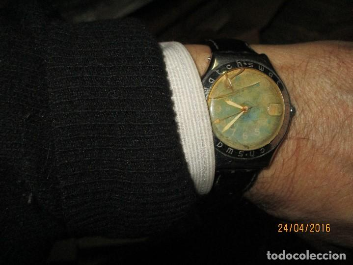 Relojes - Swatch: RARO RELOJ ANTIGUO SWATCH IRONY ACERO WATER RESISTENT MADE SUIZA PARA RESTAURAR TOTAL - Foto 13 - 143945926